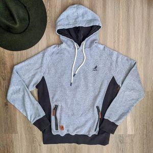Kangol Denim Blue Hooded Slim Fit Sweatshirt M